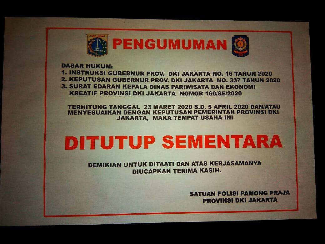 Lokasi hiburan malam ditutup diperpanjang, pariwisata indonesia, pariwisataindonesia.id