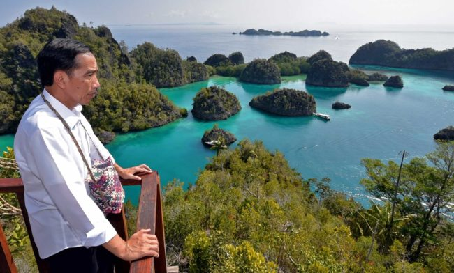 Pariwisata Indonesia, Presiden Jokowi Pemandangan Raja Ampat