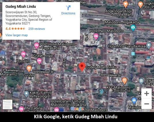 Lokasi Gudeg Mbah Lindu