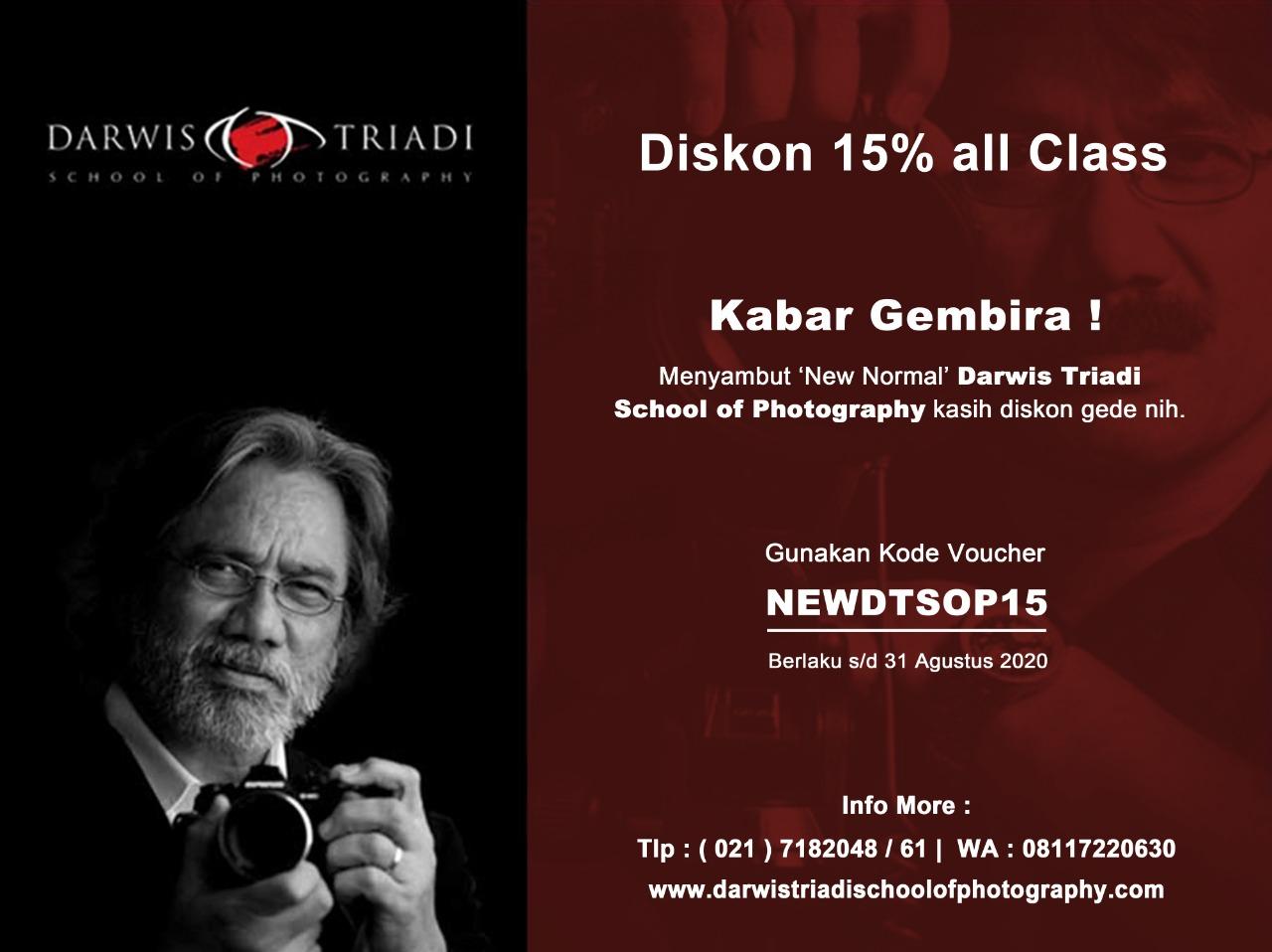 Belajar Foto di Darwis Triadi, Dapatkan Promonya!