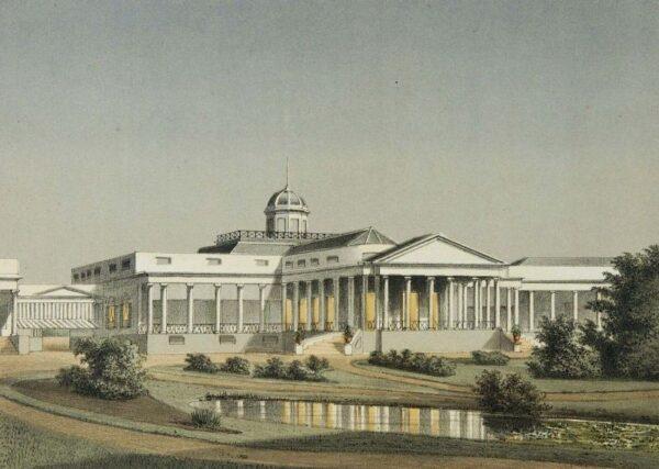 1882-1889: Bagian belakang dari Istana Gubernur Jenderal Belanda di Bogor, wisata di bogor, Pariwisata Favorit di Kota Bogor, Wisata Edukasi di Bogor, Istana Bogor, Presiden Jokowi Tinggal di Istana Bogor, Pariwisata Indonesia