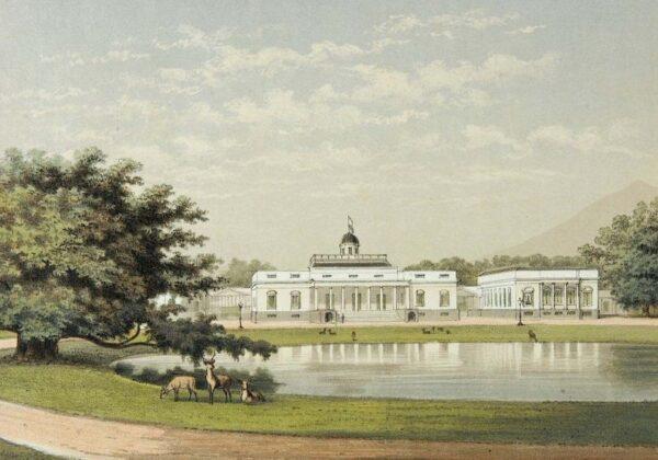 1882-1889 Istana Gubernur Jenderal Belanda di Bogor, Wisata di Bogor, Pariwisata Favorit di Bogor, Pariwisata Indonesia, Dokumen Sejarah Foto Istana Bogor