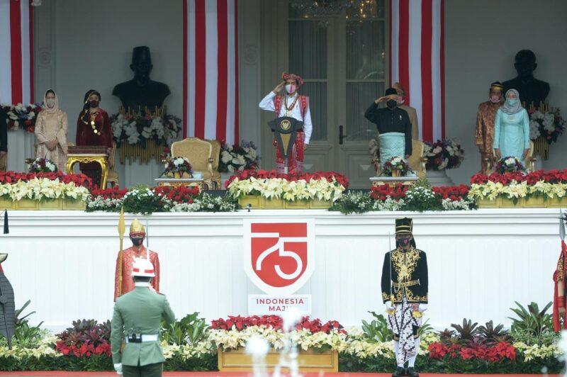 Presiden Pimpin Upacara HUT ke 75 RI